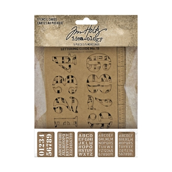 RESERVE Tim Holtz Idea-ology STENCIL CARDS th94135