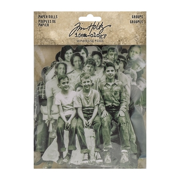 Tim Holtz Idea-ology GROUPS PAPER DOLLS th94137