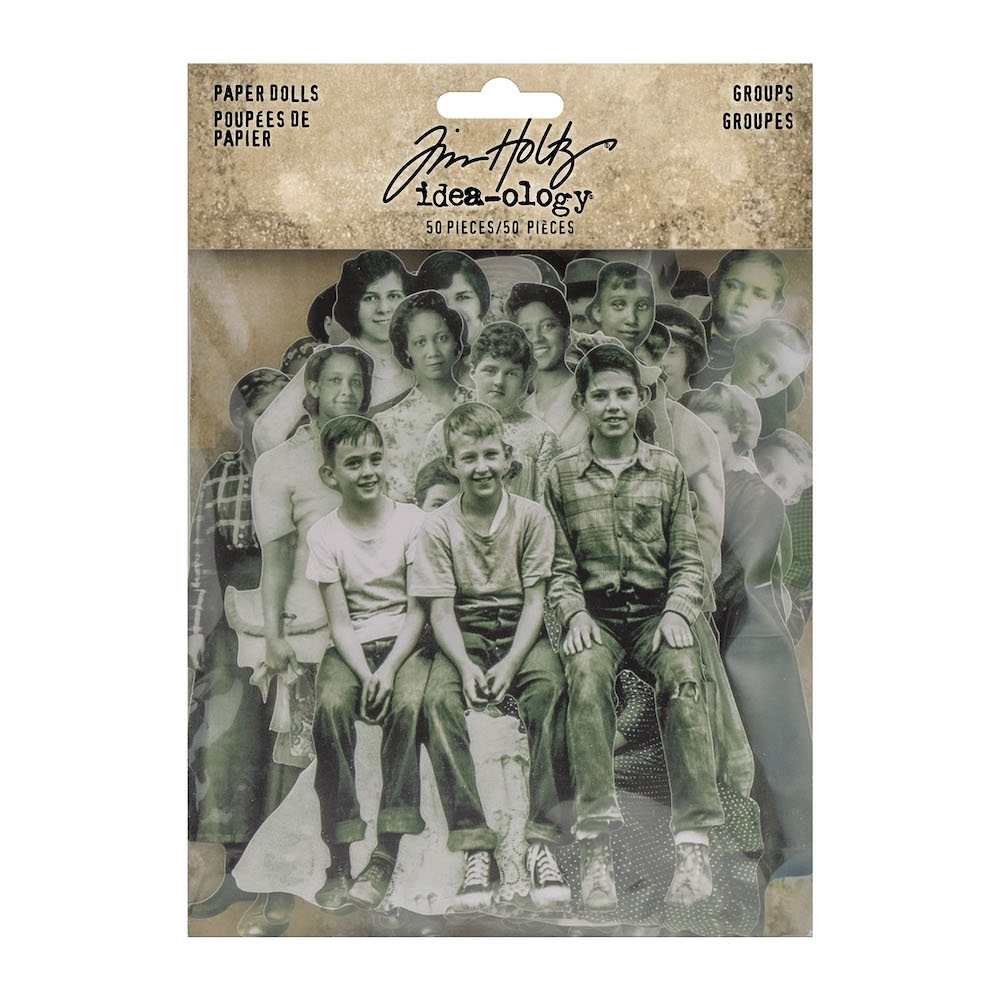 Tim Holtz Idea-ology GROUPS PAPER DOLLS th94137 zoom image