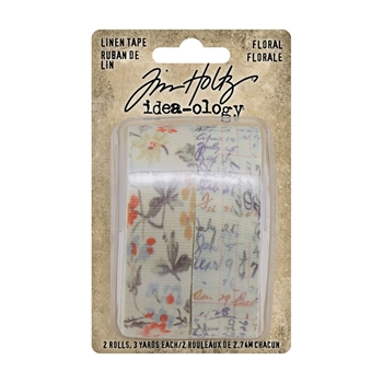 RESERVE Tim Holtz Idea-ology FLORAL Linen Tape th94139