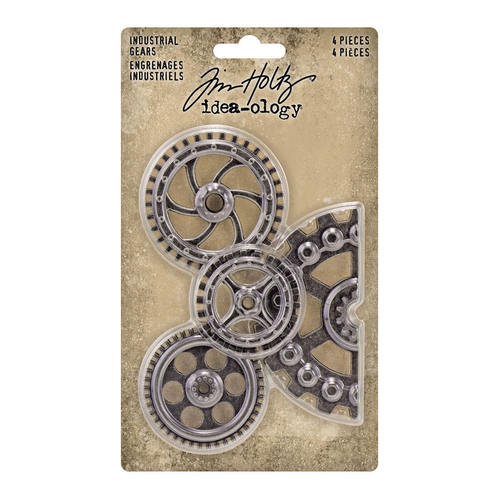 Tim Holtz Idea-ology INDUSTRIAL GEARS Embellishments th94142 zoom image