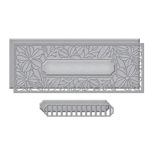 S5 450 Spellbinders BLOSSOMING SLIMLINE Etched Dies Preview Image