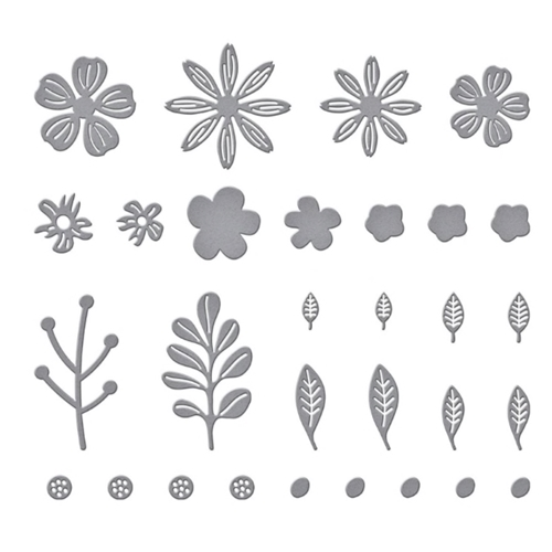 S2 314 Spellbinders MINI BLOOMS AND SPRIGS Etched Dies Preview Image