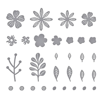S2 314 Spellbinders MINI BLOOMS AND SPRIGS Etched Dies