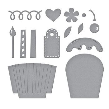 S4 1097 Spellbinders PARTY CUPCAKE POCKET Etched Dies