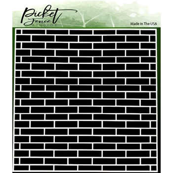 Picket Fence Studios ENGLISH BRICK WALL 6x6 Stencil sc238
