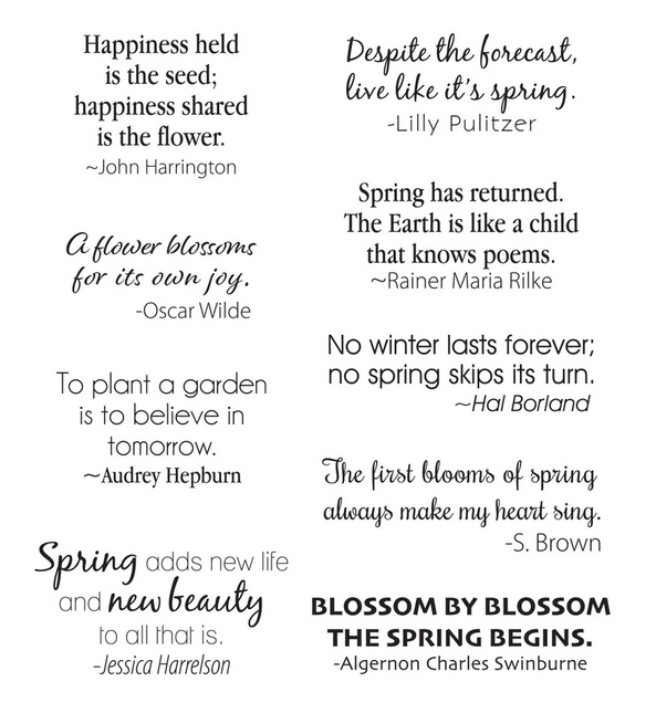 STP 026 Spellbinders SPRING QUOTES Clear Stamps zoom image