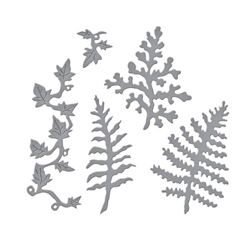 S4 1086 Spellbinders FERNS AND IVY Etched Dies