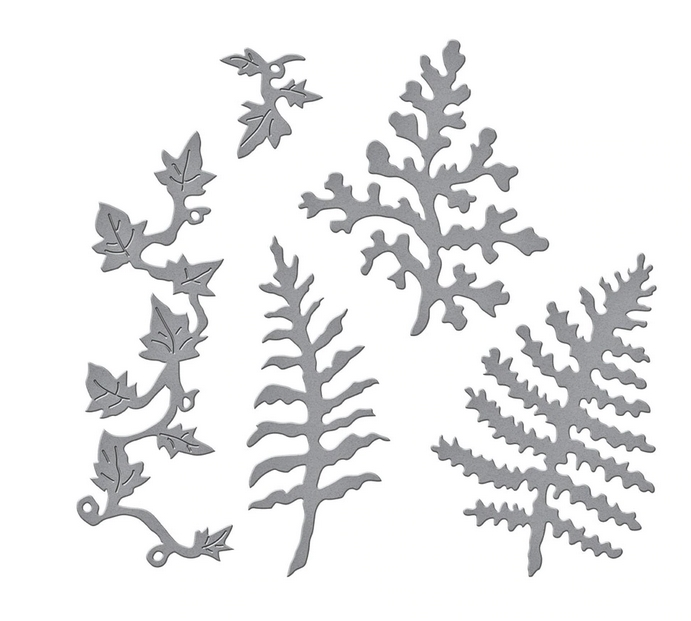 S4 1086 Spellbinders FERNS AND IVY Etched Dies zoom image