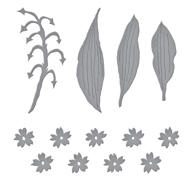S4 1085 Spellbinders LILY OF THE VALLEY Etched Dies zoom image