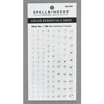 SCS 130 Spellbinders SILVER MIX Color Essential Gems