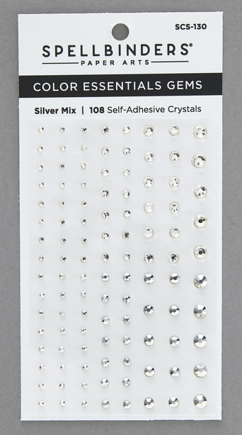 SCS 130 Spellbinders SILVER MIX Color Essential Gems  zoom image