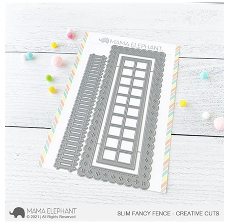 Mama Elephant SLIM FANCY FENCE Creative Cuts Steel Dies Preview Image