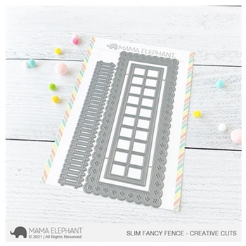 Mama Elephant SLIM FANCY FENCE Creative Cuts Steel Dies