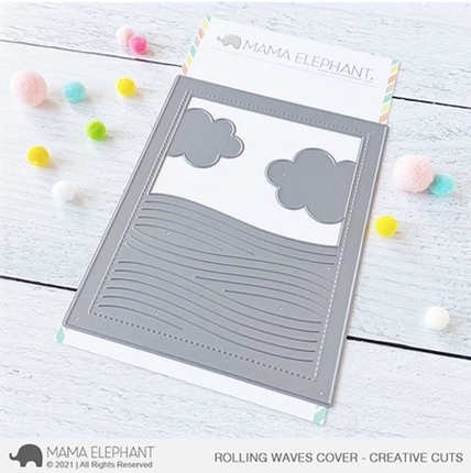 Mama Elephant ROLLING WAVES COVER Creative Cuts Steel Dies Preview Image