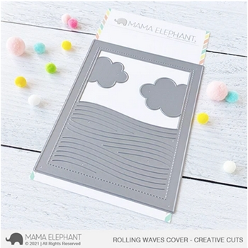 Mama Elephant ROLLING WAVES COVER Creative Cuts Steel Dies