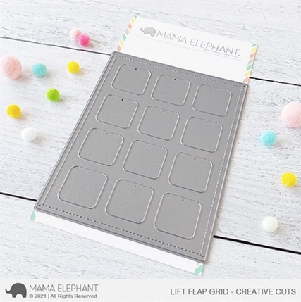 Mama Elephant LIFT FLAP GRID Creative Cuts Steel Dies Preview Image