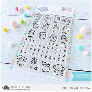 Mama Elephant Clear Stamps LITTLE SIGNAGE AGENDA