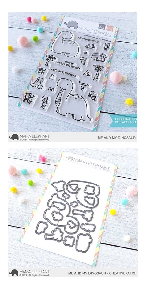 Mama Elephant Clear Stamp and Die MEPT902 Me and My Dinosaur SET* zoom image