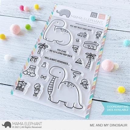 Mama Elephant Clear Stamps ME AND MY DINOSAUR Preview Image