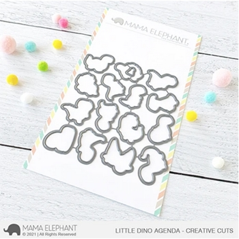 Mama Elephant LITTLE DINO AGENDA Creative Cuts Steel Dies