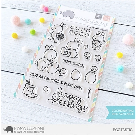 Mama Elephant Clear Stamps EGGTASTIC  zoom image
