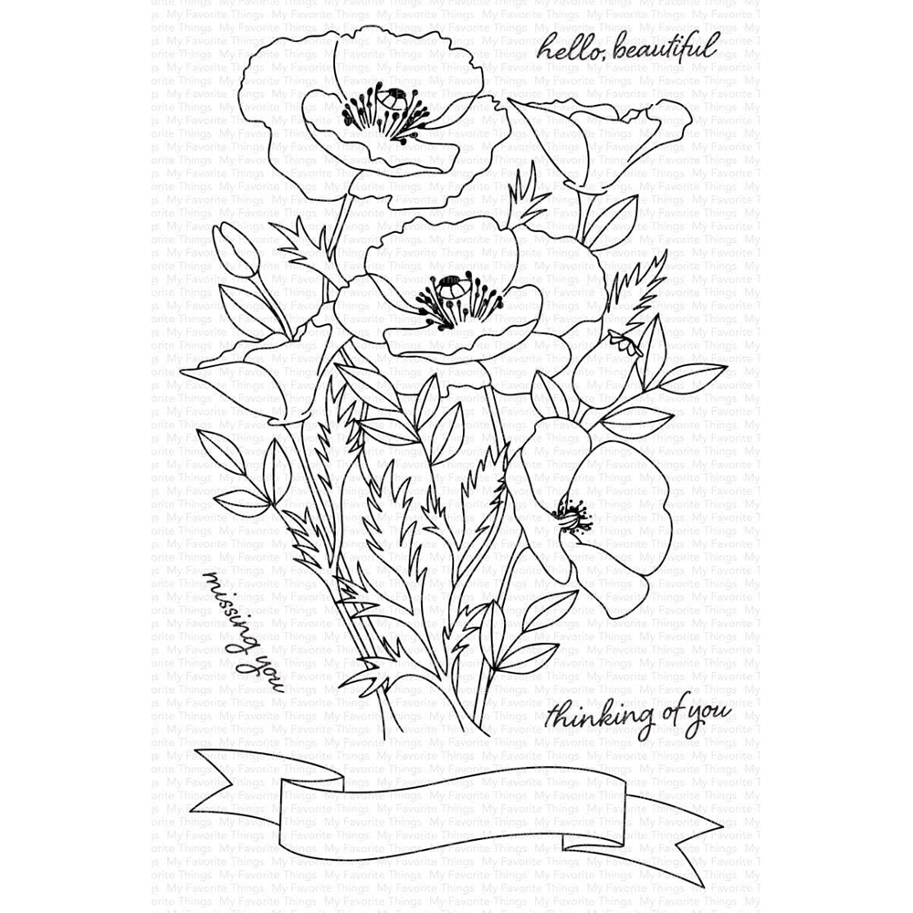 My Favorite Things WILD POPPIES Clear Stamps cs547 zoom image
