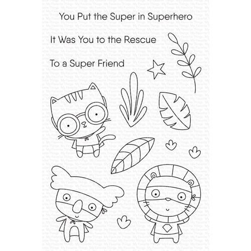 My Favorite Things SUPER FRIEND Clear Stamps cs546 Preview Image