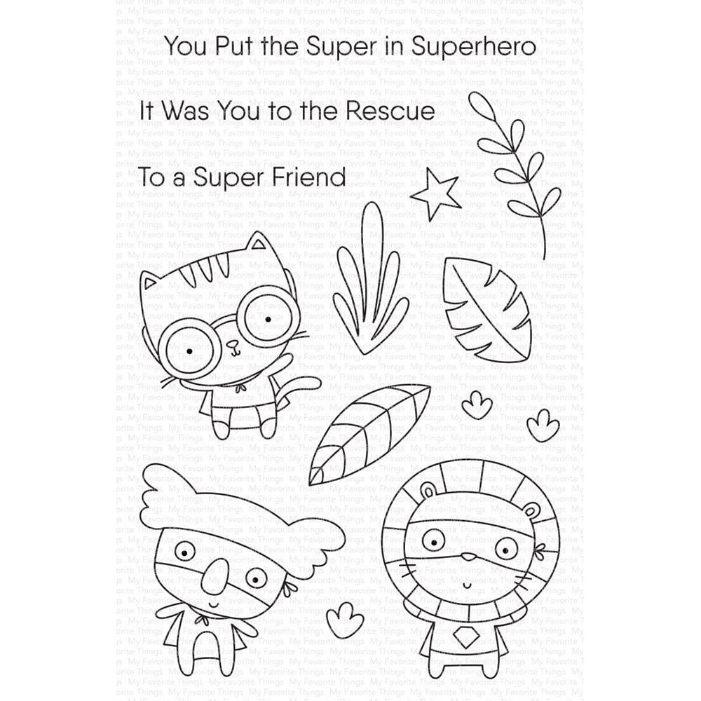 My Favorite Things SUPER FRIEND Clear Stamps cs546 zoom image