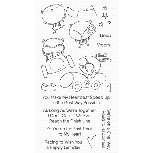 My Favorite Things FAST-TRACK FRIENDS Clear Stamps cs545 Preview Image
