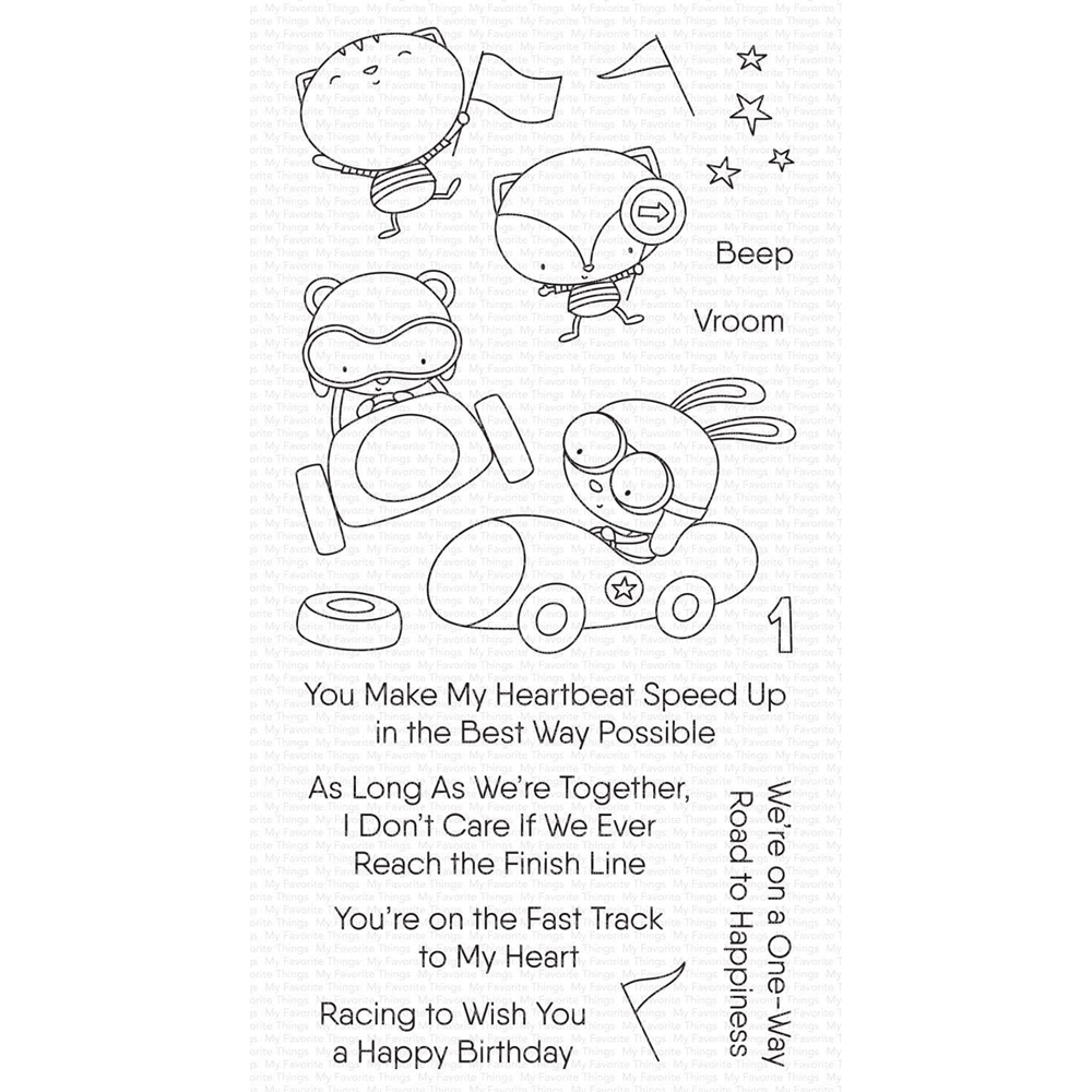 My Favorite Things FAST-TRACK FRIENDS Clear Stamps cs545 zoom image
