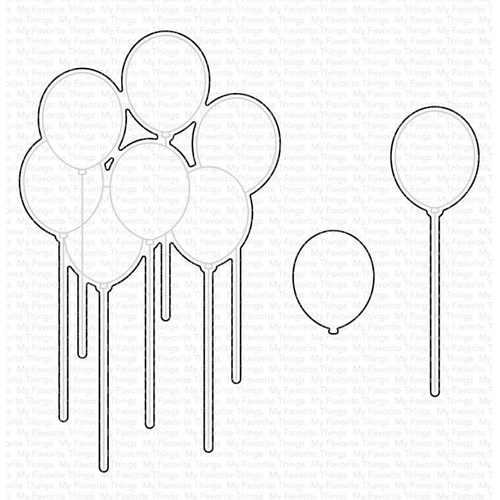 My Favorite Things BALLOON BOUQUET Dies Die-Namics mft1945 Preview Image
