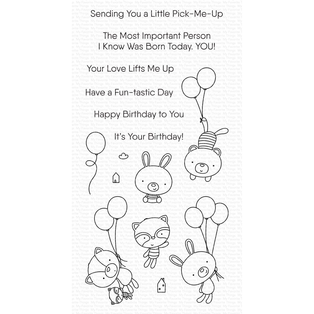 My Favorite Things BALLOON BESTIES Clear Stamps cs544 zoom image