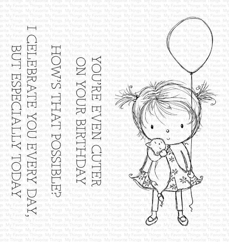 My Favorite Things BIRTHDAY CUTIE Clear Stamps ram007 zoom image