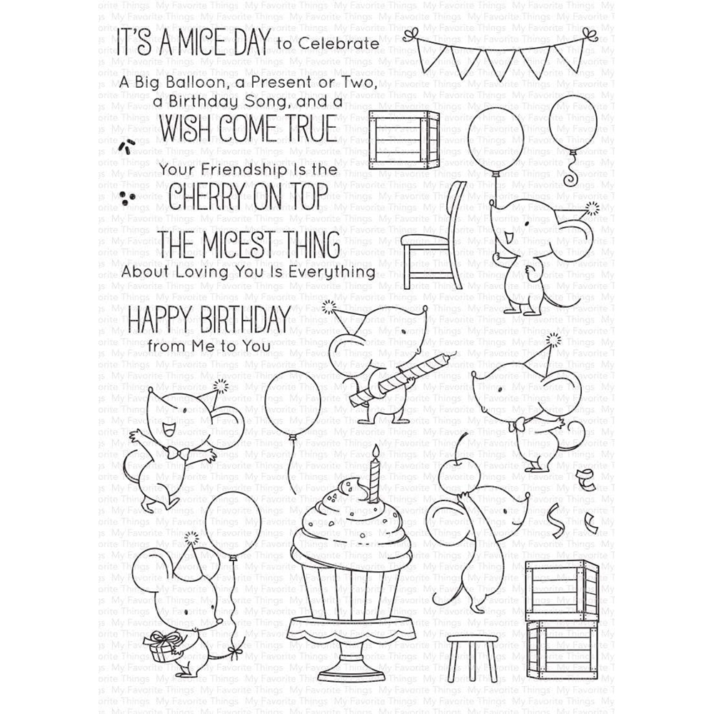 My Favorite Things MICE DAY TO CELEBRATE Clear Stamps bb120 zoom image