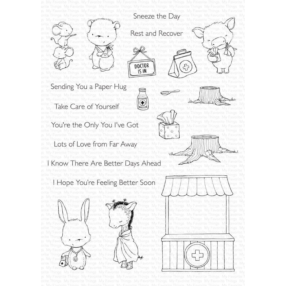 My Favorite Things FEEL BETTER Clear Stamps sy29 zoom image