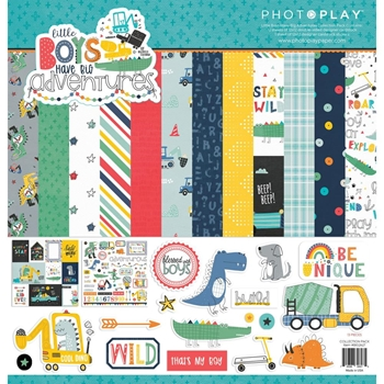 PhotoPlay LITTLE BOYS HAVE BIG ADVENTURES 12 x 12 Collection Pack big2627