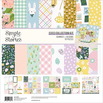 Simple Stories BUNNIES AND BLOOMS 12 x 12 Collection Kit 14600*