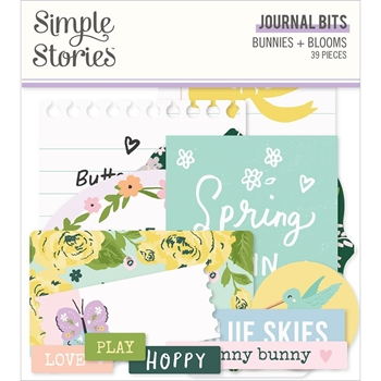 Simple Stories BUNNIES AND BLOOMS Journal Bits And Pieces 14617*