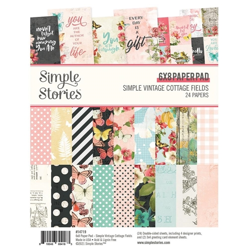 Simple Stories Cottage Fields 6x8 Paper Pack