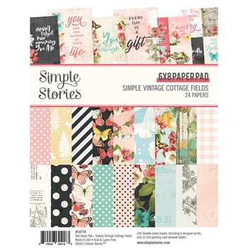Simple Stories COTTAGE FIELDS 6 x 8 Paper Pad 14719