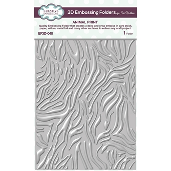 Creative Expressions ANIMAL PRINT 3D Embossing Folder Sue Wilson ef3d040