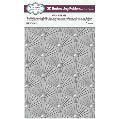 Creative Expressions FAN PALMS 3D Embossing Folder Sue Wilson ef3d041 Preview Image