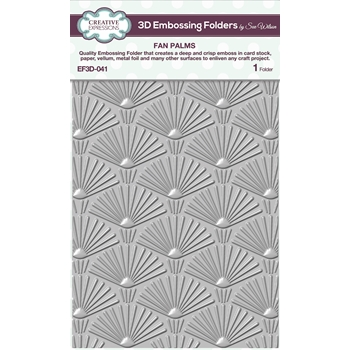 Creative Expressions FAN PALMS 3D Embossing Folder Sue Wilson ef3d041