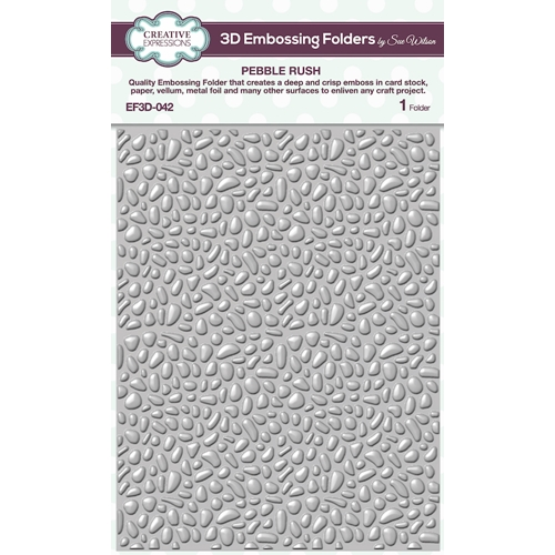 Creative Expressions PEBBLE RUSH 3D Embossing Folder Sue Wilson ef3d042 Preview Image