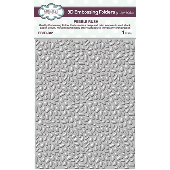Creative Expressions PEBBLE RUSH 3D Embossing Folder Sue Wilson ef3d042
