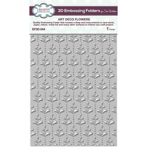 Creative Expressions ART DECO FLOWERS 3D Embossing Folder Sue Wilson ef3d044 Preview Image