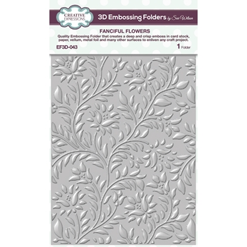 Creative Expressions FANCIFUL FLOWERS 3D Embossing Folder Sue Wilson ef3d043