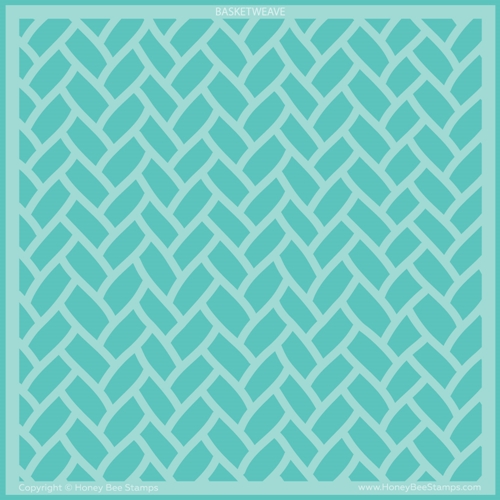 Honey Bee BASKETWEAVE BACKGROUND Stencil hbsl083 Preview Image