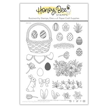 Honey Bee EASTER BASKET BUILDER Clear Stamp Set hbst325